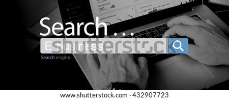 E-Business Commerce Marketing Business Concept - stock photo