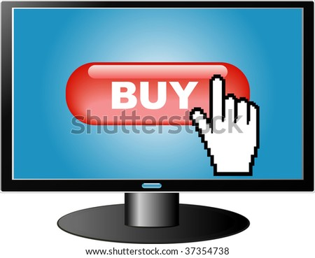 e-commerce concept, buying in Internet - stock photo