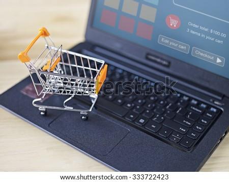e-commerce concept: online shopping - stock photo