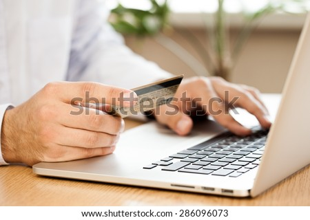E-commerce, Credit Card, Internet. - stock photo