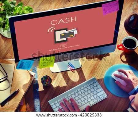 E-commerce Digital Payment Banking Cash Concept - stock photo