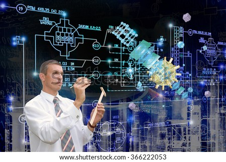 E-connection engineering telecommunications technology. - stock photo