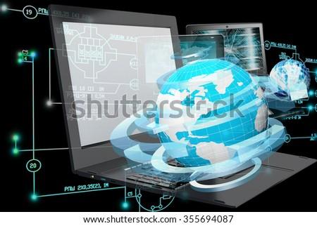 E-engineering technology. - stock photo