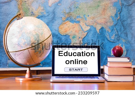 E-learning, education online concept - stock photo