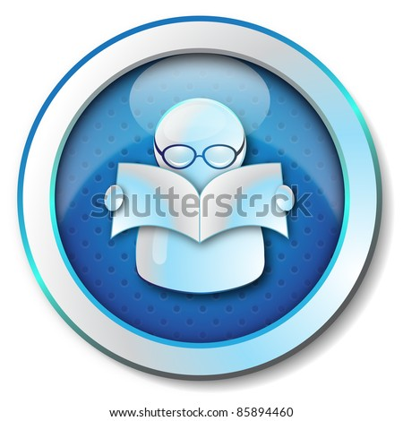 E-learning icon - stock photo