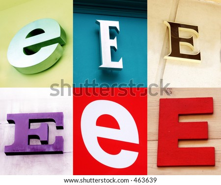 E letter - the Urban collection - stock photo