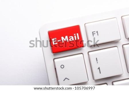 E-Mail botton - stock photo
