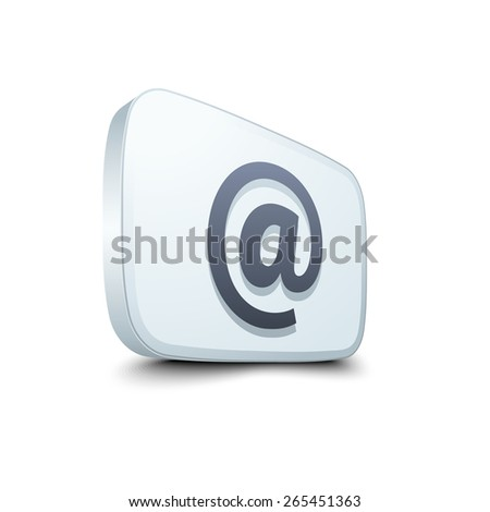 E-mail button - stock photo