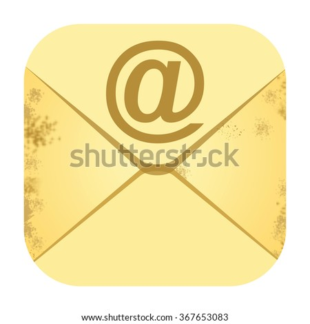 E mail icon - stock photo