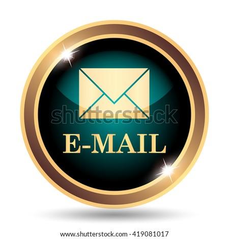 E-mail icon. Internet button on white background. - stock photo