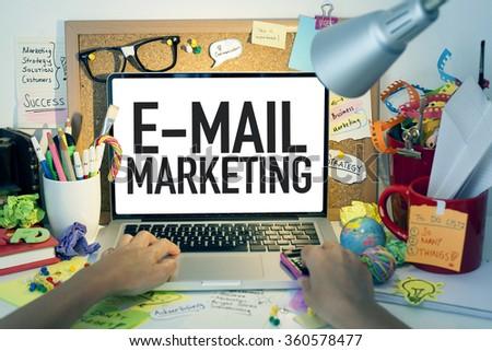 E-mail Marketing / Business Concept - stock photo