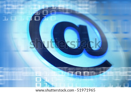 E-Mail Sign - stock photo