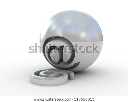 E-mail Symbol 3D - stock photo