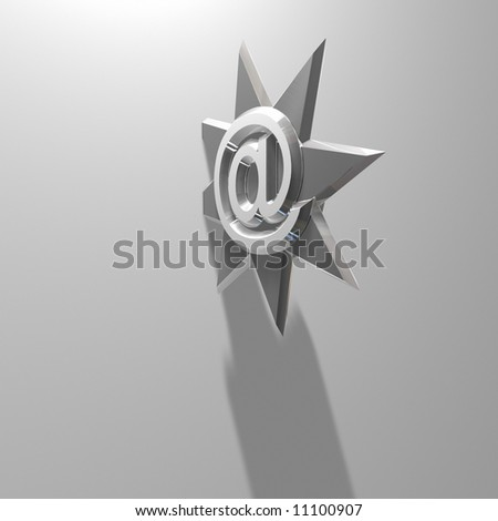 e-mail Throwing Star 02 - stock photo
