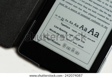 E-Reader Screen Options Stock Photo - stock photo