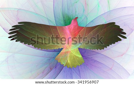 Eagle of Freedom abstract illustration - stock photo