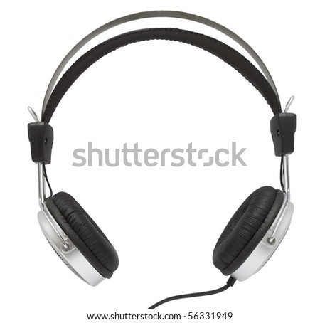 Ear-phones on a white background - stock photo