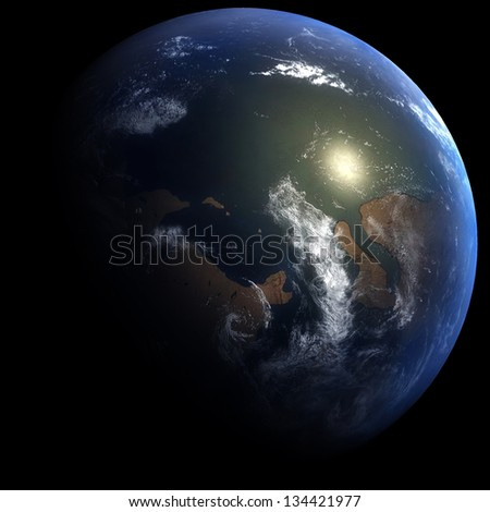 Early Cambrian Earth: 541.0 Million Years Ago - stock photo