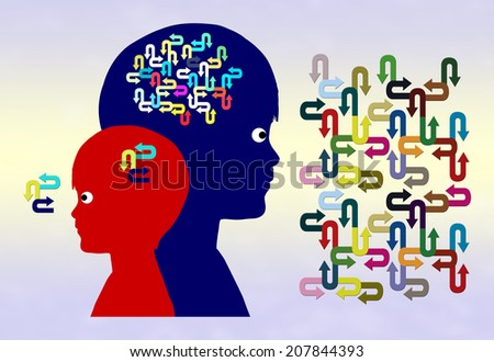 Early Childhood Development. Concept for developing intelligence, creativity and imagination in kids - stock photo