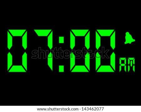 Early Morning Alarm Call At Seven O'clock AM - stock photo