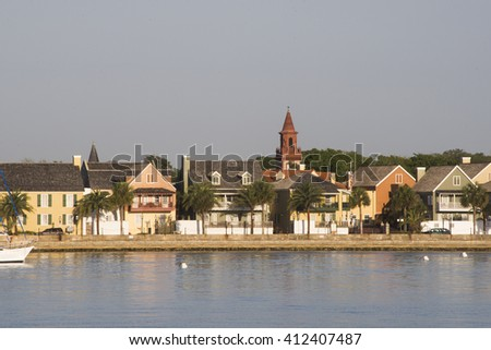 Early morning at St.Augustine/Saint Augustine/Buildings located at Saint Augustine Florida - stock photo