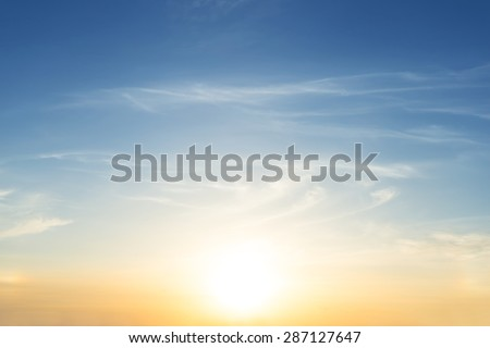 early morning sky scene - stock photo