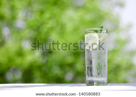 Early summer, drink, cold water, - stock photo