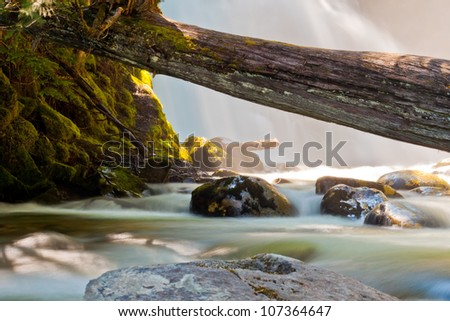 Early summer morning in snow creek falls Idaho - stock photo