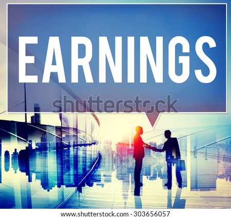 Earning Economy Finance Income Money Salary Concept - stock photo