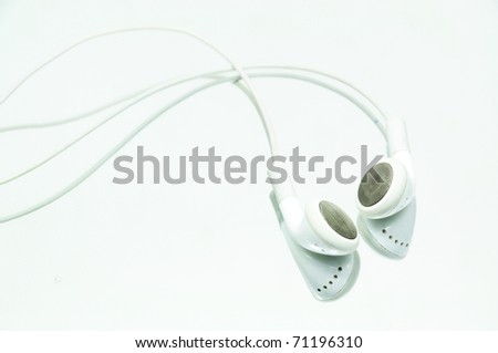 Earphone Isolated on white background - stock photo