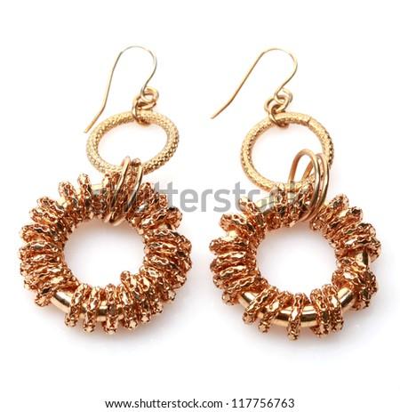 Earrings - stock photo