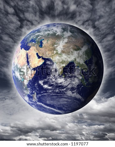 Earth and sky - stock photo