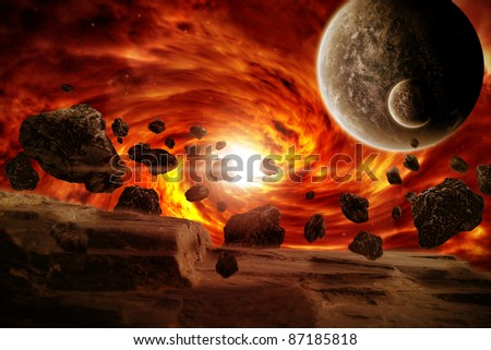 Earth Armageddon : End of time - stock photo