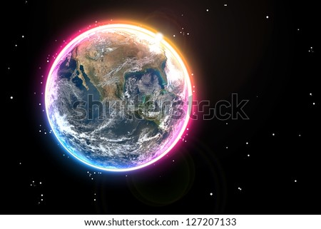 Earth background - stock photo