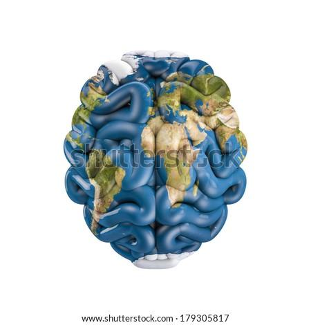 Earth brain - stock photo