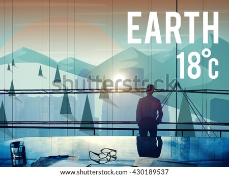 Earth Climate Ecology Environmental Conservation Concept - stock photo