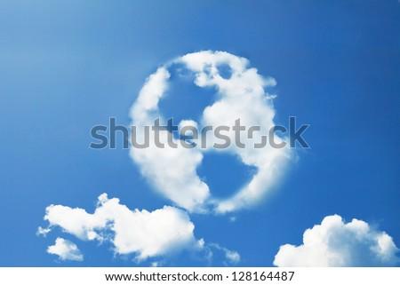 earth cloud shape - stock photo