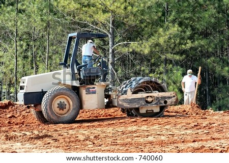 Earth Compressor at work - stock photo
