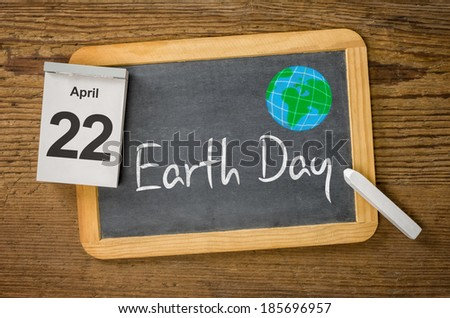 Earth Day, April 22 - stock photo