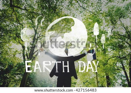 Earth Day Ecology Save Earth Concept - stock photo