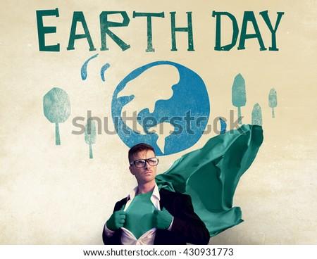 Earth Day Globe Holiday Celebration Concept - stock photo