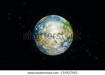 earth. Elements of this image furnished by NASA. - stock photo