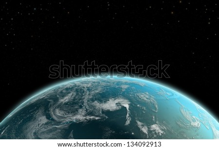 Earth from Space - Elements of this image furnished by NASA - stock photo