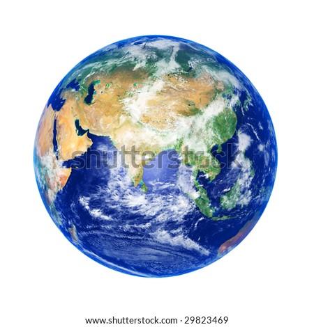 Earth Globe, Asia, high resolution image - stock photo