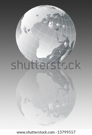 Earth globe illustration - stock photo
