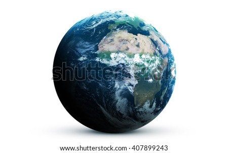 Earth - High resolution 3D images presents planets of the solar system. This image elements furnished by NASA - stock photo