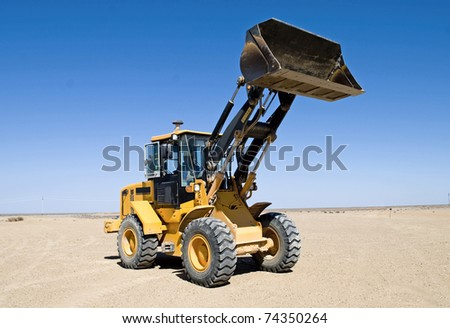 earth-moving excavator - stock photo