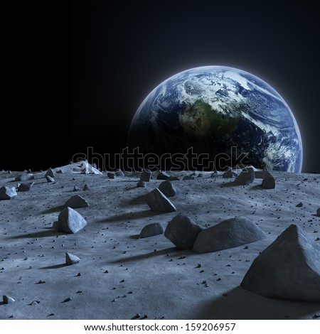 surface of moon as seen from earth - photo #26