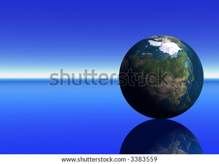 Earth showing Asia - stock photo
