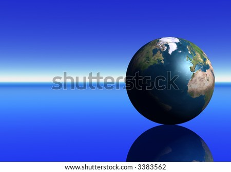 Earth showing the North Atlantic - stock photo